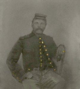 Ole Rocksvold in Civil War uniform, lighter version